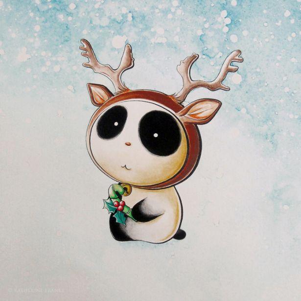 Panda Reindeer